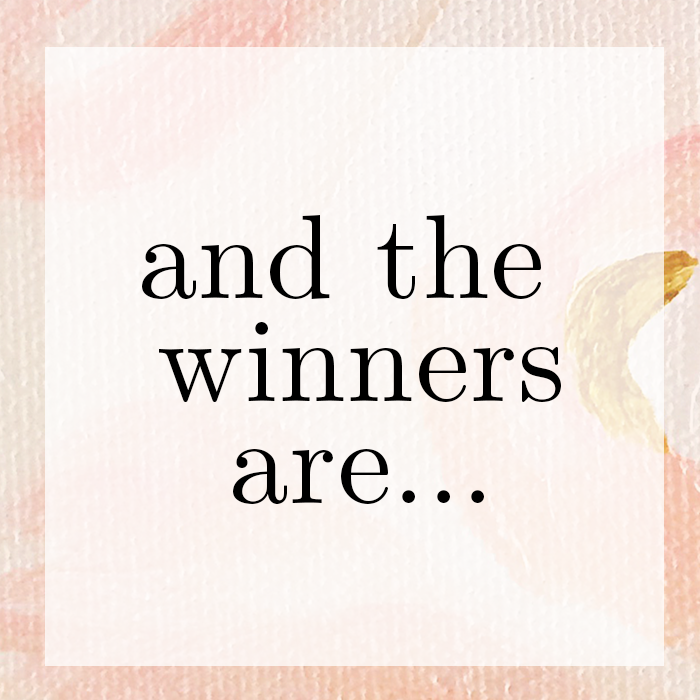 LaFabere blog ticket winners!