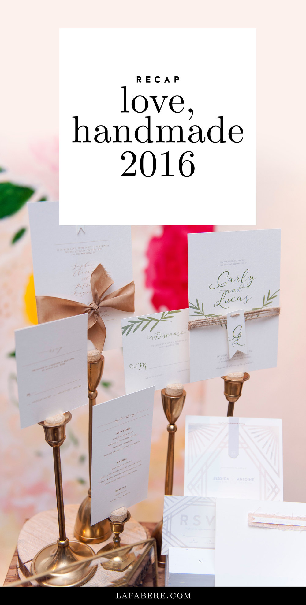 LaFabere Love, handmade 2016 recap