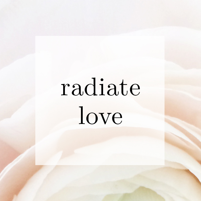 radiate love quote