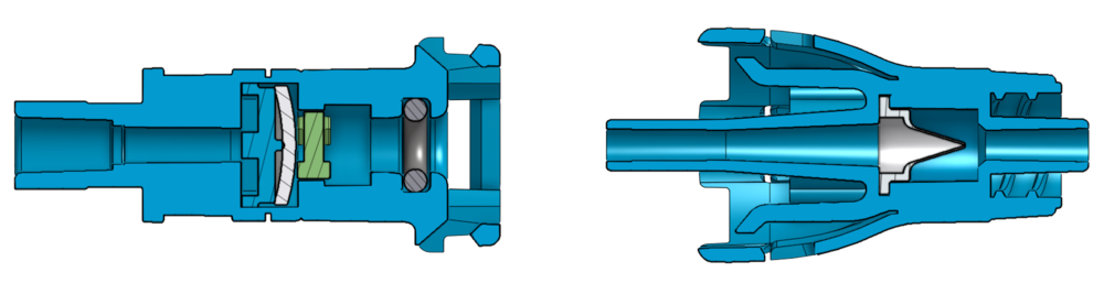 Figure 1. SafeBreak Vascular separates and valves are embedded in the device so that they can't be accidently opened.