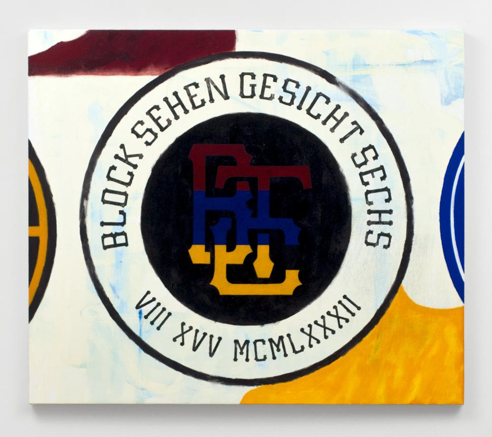 "Block Sehen Gesicht Sechs  , 2015  Acrylic on canvas  35 x 30"" (89 x 76 cm)"