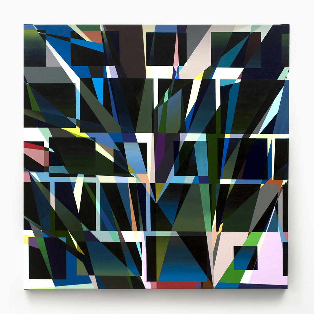 "QIS  , 2012  Acrylic on canvas  42 x 42"" (107 x 107 cm)"