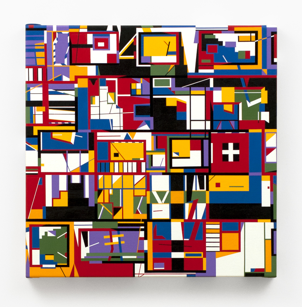 "FOY  , 2013  Acrylic on linen  20 x 20"" (51 x 51 cm)"