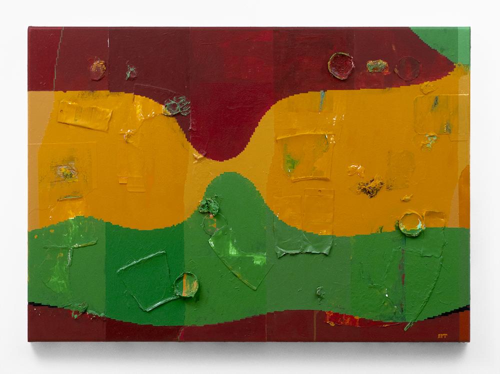 """Beach Head,   2015  Acrylic on canvas  38 x 27"""" (97 x 69 cm)"""