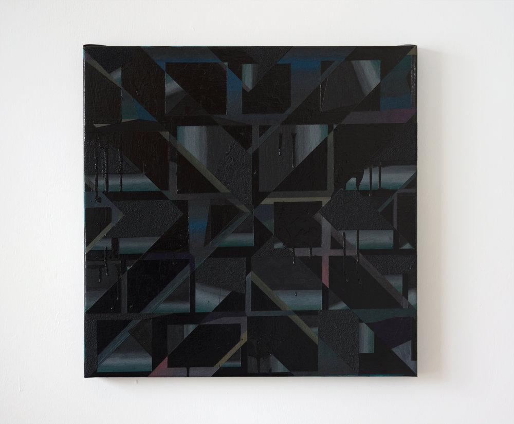 """VIG  , 2013  Acrylic, latex, & sand on linen  20 x 20"""" (51 x 51 cm)"""