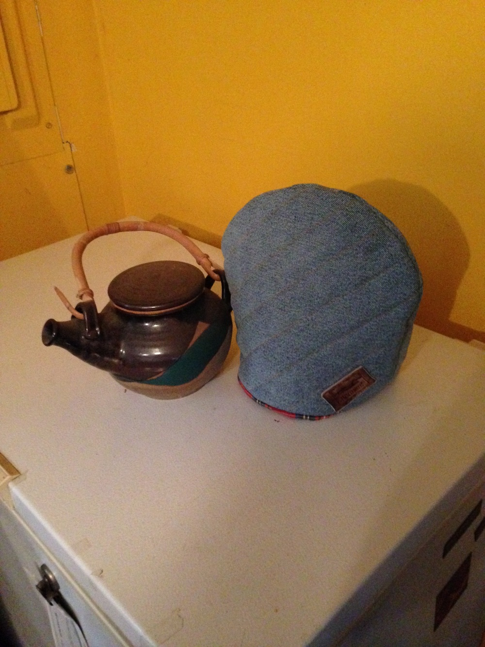 Manly Tea Cosy with tea pot.jpg