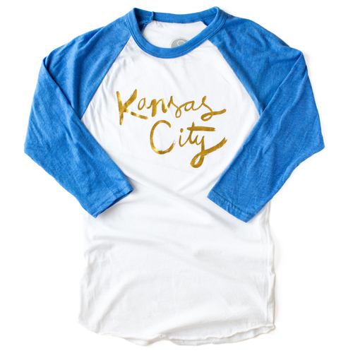 Kansas City T Shirt Gold Foil Baseball Tee