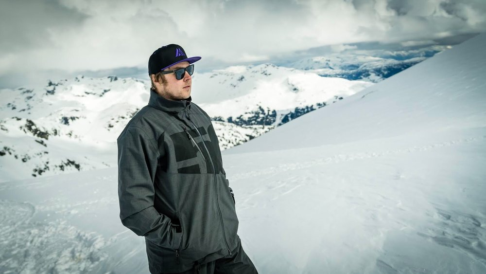 Gold Ambassador Andy Messner wearing our Mountain Man Bill Snapback in Purple.