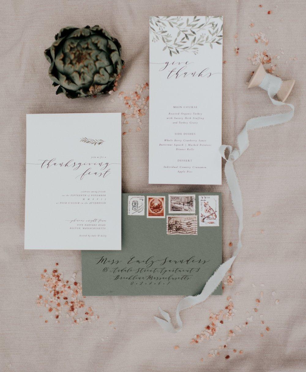 Thanksgiving Invitation | Kate Murtaugh Events & Design