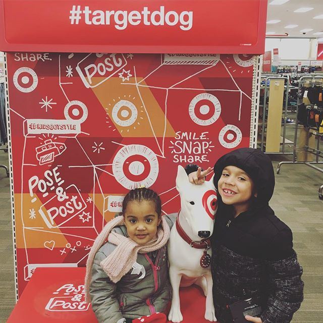 Preparing for the snow. #targetdog