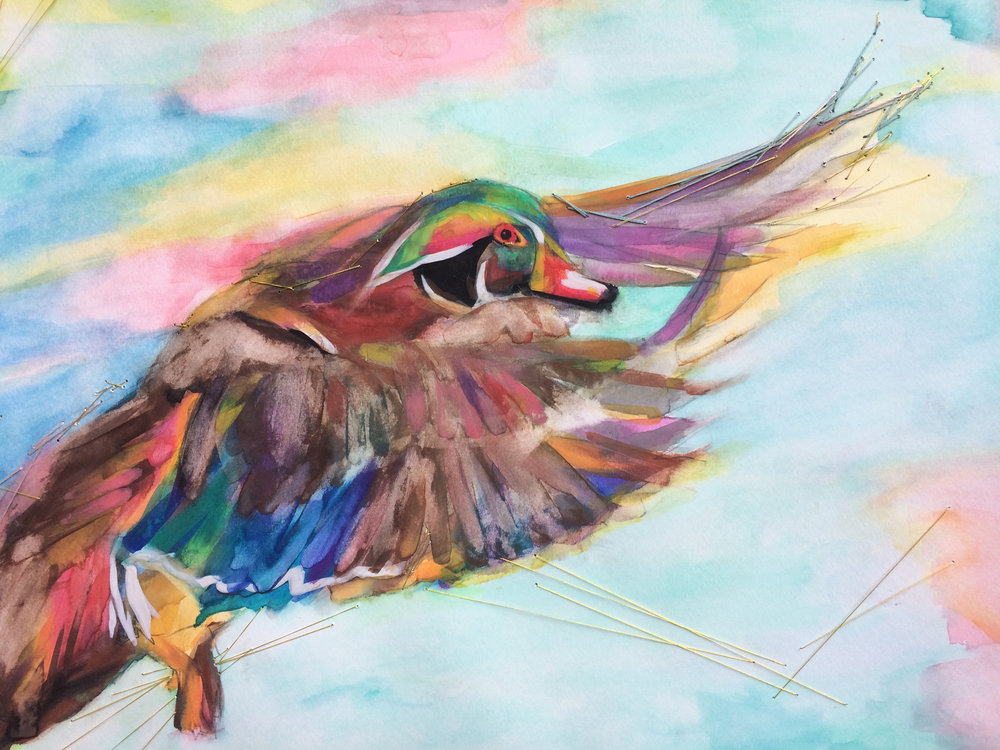 wood duck (commissioned work)
