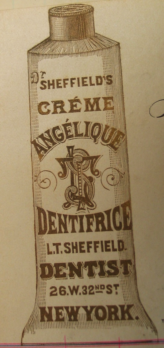 Toothpaste in a tube, invented by Dr. Washington Sheffield in 1870