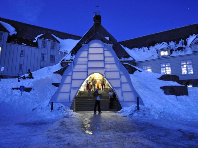 Timberline Lodge Winter Entrance