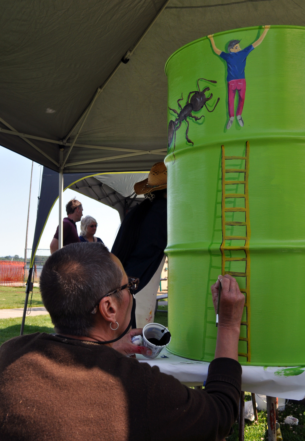 Trash Can Painting Competition