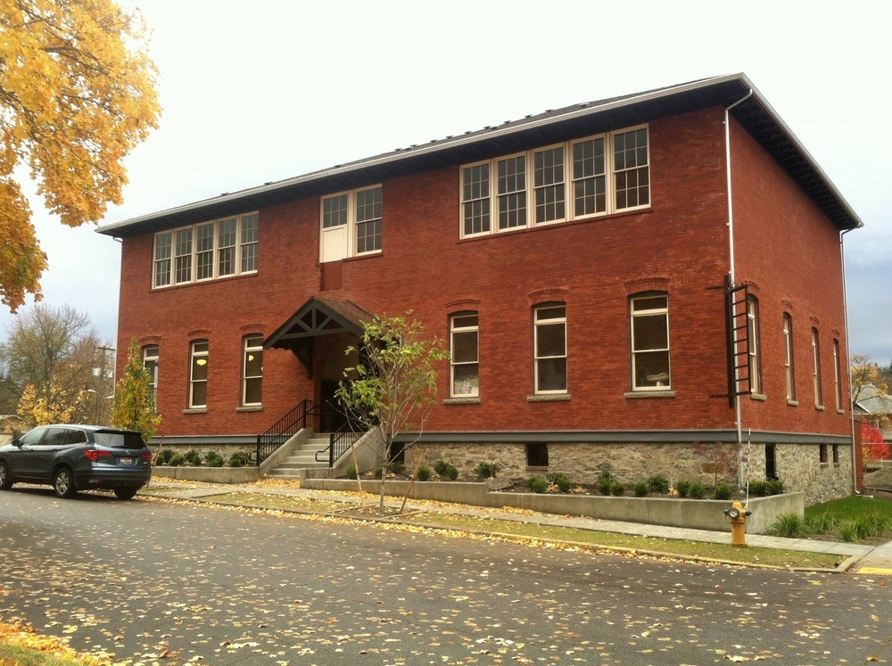 The studio is located in Suite #2 of an old, brick, downtown Coeur d'Alene schoolhouse at 602 E Garden Avenue.