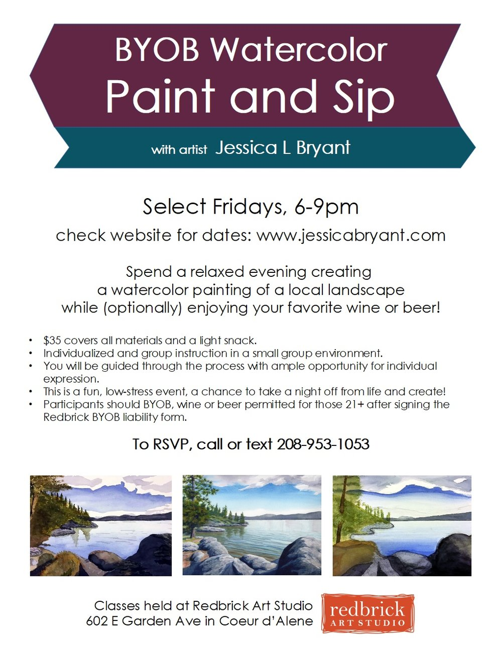 Paint and Sip with Jessica