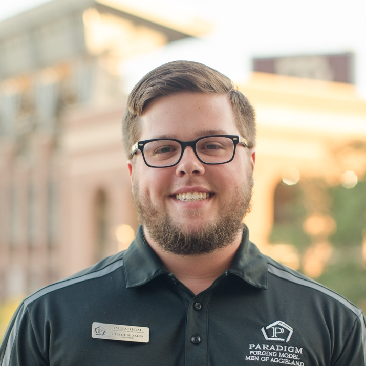"Charles Ames '18    Hometown:  Austin, TX   Major:  Political Science   Involvement:  MSC ALOT St. Mary's Eucharistic Minister MORPH President   Favorite Quote:   "" I am not afraid of an army of lions led by a sheep; I am afraid of an army of sheep led by a lion.""- Alexander the Great"