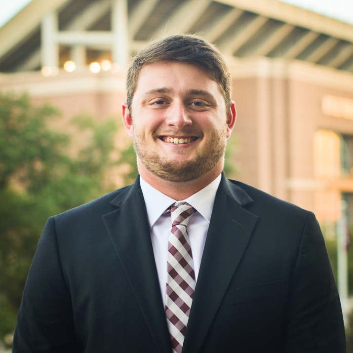 """Kyle Cummings '18    Hometown: Hemphill, TX   Major: Sports Management   Involvement:  MSC ALOT Fish Camp Intramural Sports Aggie Coaches and Kinesiology Teachers Sports Management Society   Favorite Quote: """"When you reach the end of your rope, tie a knot in it and hang on."""" - Franklin D. Roosevelt"""