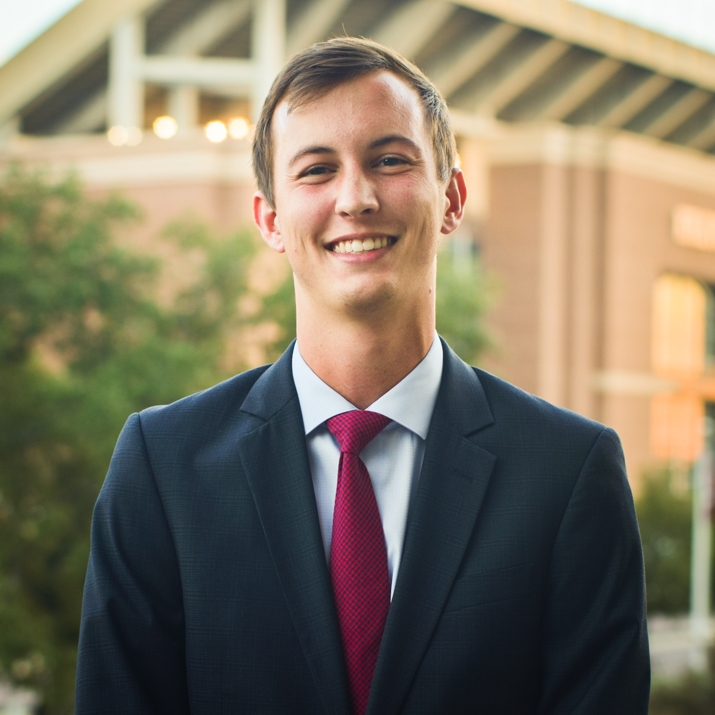 """Adam Wyble '19   Recruitment Director Fall '17    Hometown: Nederland, TX   Major: Industrial Distribution   Involvement:  12th Man Productions Fish Camp PAID   Favorite Quote: """"Would I rather be feared or loved? Easy, both... I want people to be afraid of how much they love me"""" - Michael Scott"""
