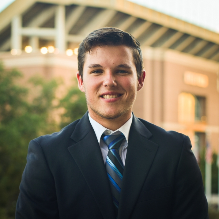 """James Butler '20    Hometown: Waco, TX   Major: Renewable Natural Resources   Involvement:  VX                     Morph FLE Mentor Replant   Favorite Quote: """"The difference between a successful person and others is not a lack of strength, not a lack of knowledge, but rather a lack of will"""" - Vince Lombardi"""