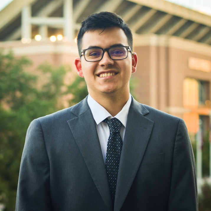 """Manuel Garcia '19    Hometown: Houston, TX   Major: Allied Health   Involvement:  Undergraduate Research Aggie Spirit Driver   Favorite Quote: """"I've failed over and over and over again in my life and that is why I succeed."""" - Micheal Jordan"""
