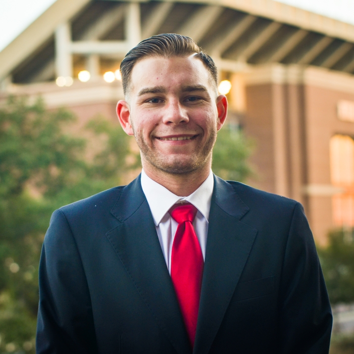 """F. Jacob Herron '19    Hometown: Spring, TX   Major: Electronic systems engineering technology      Involvement:  Bonfire   Favorite Quote: Whenever I'm about to do something, I think, """"Would an idiot do that?"""" And if they would, I do not do that thing"""" -Dwight K. Shrute"""