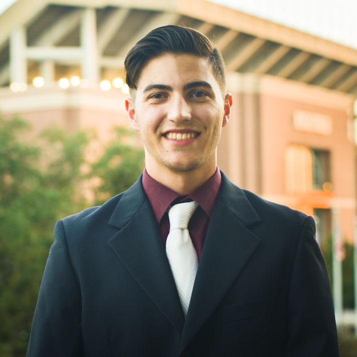 """Anthony Basile '19    Hometown:  San Antonio, TX   Major: Technology Management   Involvement:  Aggie Fish Club Eagle Scout Health Science Center Network Security   Favorite Quote: """"I am the gate keeper of my own destiny and I will have my glory day in the hot sun"""" - Brother """"Nacho"""" Ignacio"""