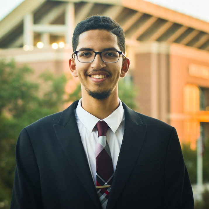 """Mahmoud El-Shazly '19     Hometown:  Houston, TX    Major:  Mechanical Engineering    Involvement:   Aggies Reaching Out (ARO, Director) American Society of Mechanical Engineering (ASME, Director) Aggies for Limbs MSC ALOT MSC LT Jordan    Favorite Quote: """"None of you will believe until you love your brother what you love for yourself"""" - Imam Al-Bukhari"""