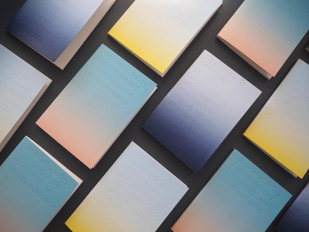 Gradient Notebooks | Graphic Design - sunrise, sunset, night | London (UK)