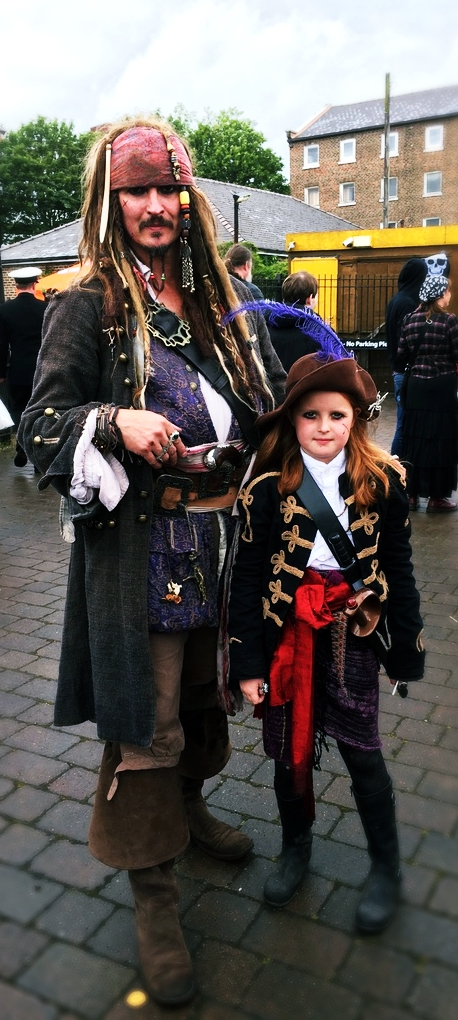 A chance meeting with Captain Sparrow and his underling on a rainy Saturday morning