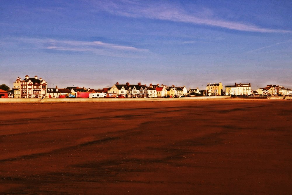 The golden sands of Hartlepool's beaches steeped in history and tranquility
