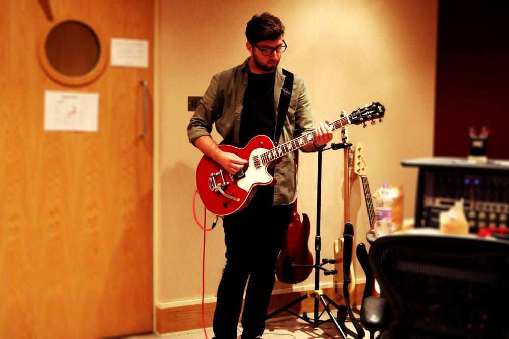 Joe Kovacs on guitar