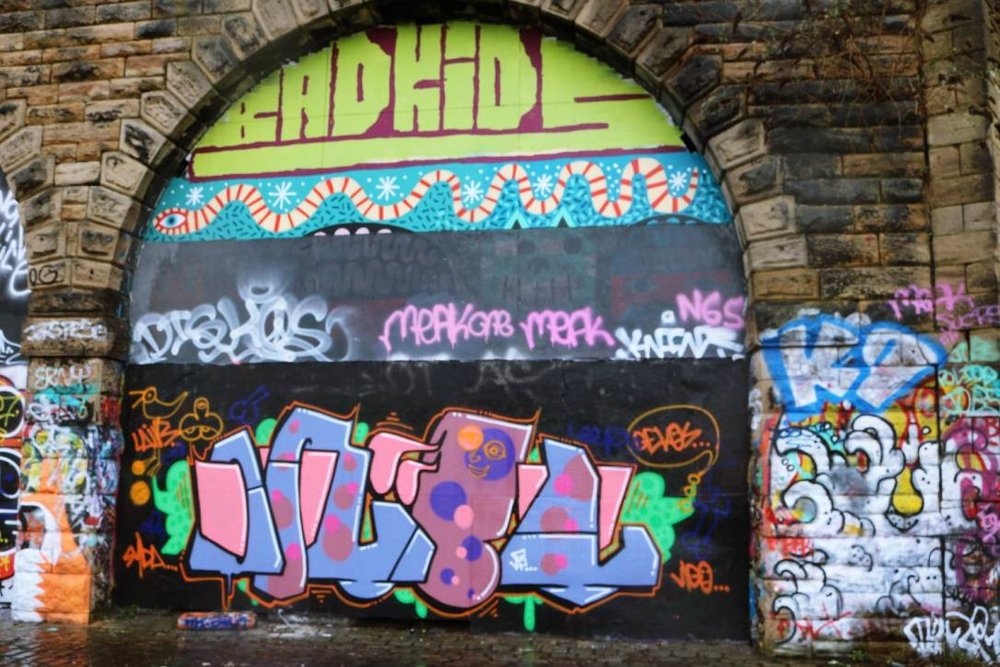 Gateshead: Layers of graffiti at the CoMusica Arches