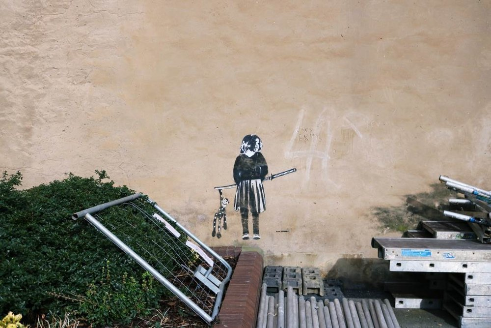 Middlesbrough: Girl with Sword (now in an area where construction is taking place)