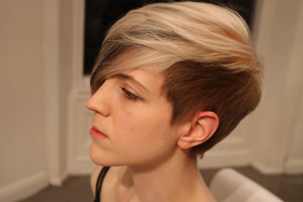 On the other side: A more pronounced strobbing effect enhanced by the undercut