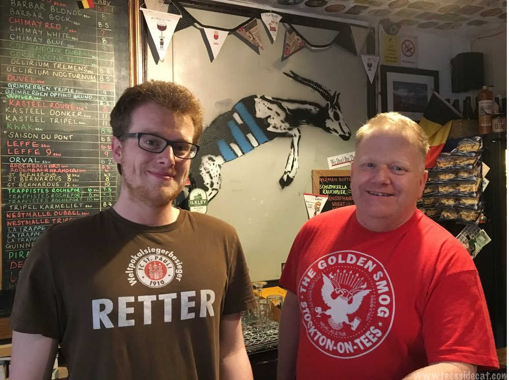 Owner, John, and his son Callum who helps out at the pub from time to time