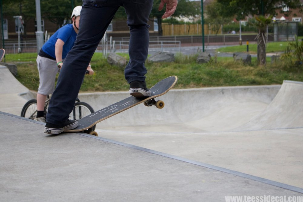 At the first 'Tryin' to Jam' event that took place on 3 September 2017 at Rozzy Plaza Skatepark in Hartlepool