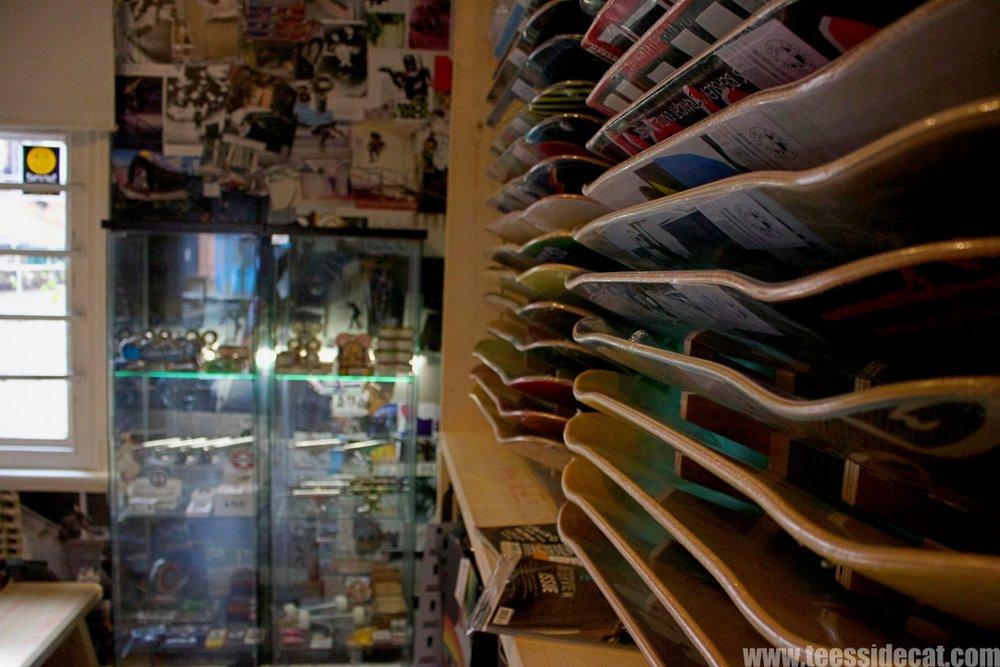 Inside  Legacy Skate Shop  in Darlington