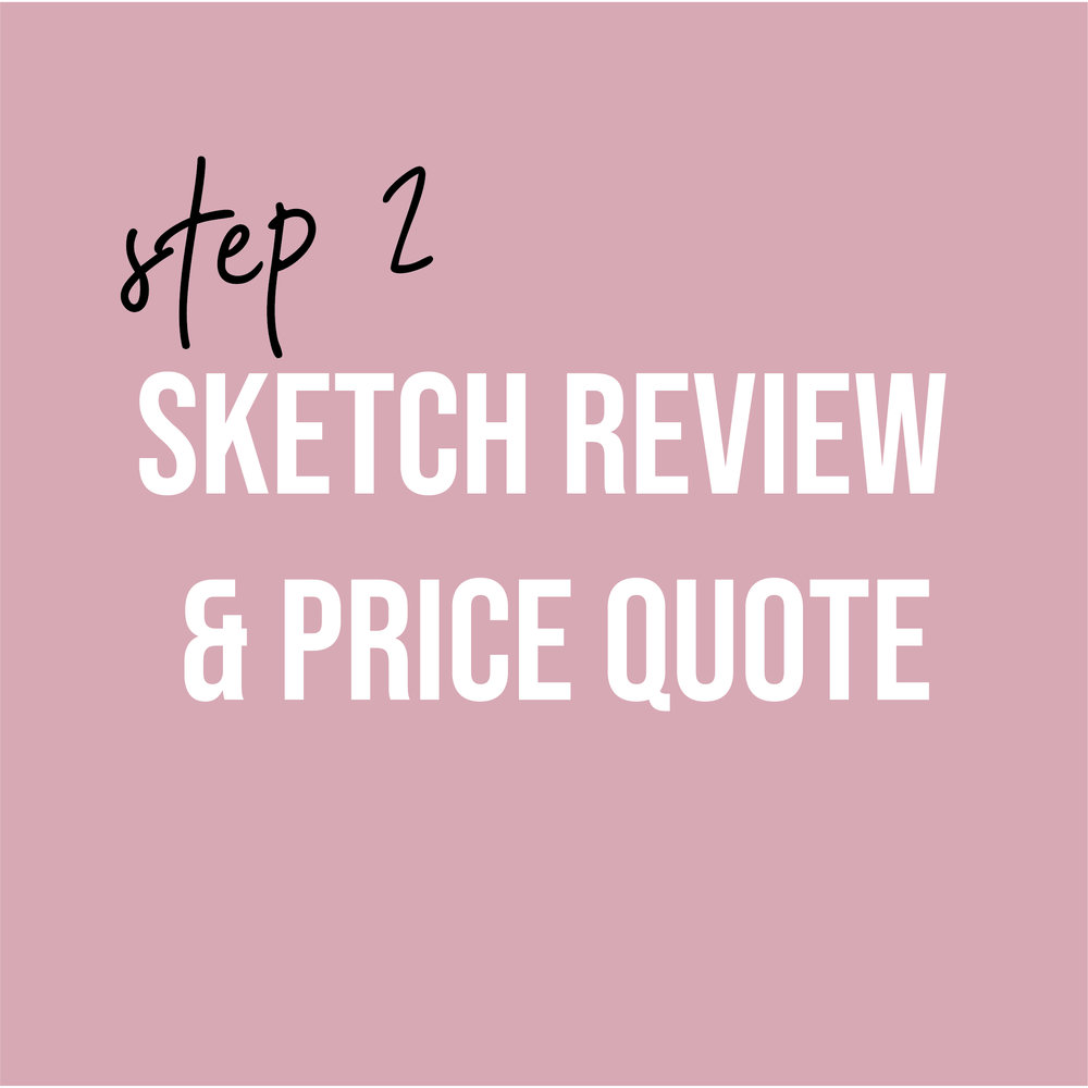 - Our second meeting will be the sketch review. Fabric swatches will be proposed at this time as well as the final cost estimate. To move forward with the design process, a 50% non-refundable deposit is required at this meeting