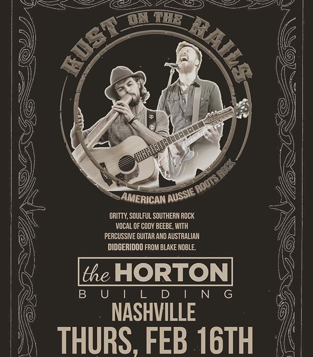 Tonight's the night. Doors at 7:00... come hang! #nashville #rustontherails #americanaussieroots #musiccity #nashvillemusic #hortonbuilding #thehortonbuilding #downtownnashville #northwestmusic
