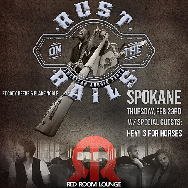 Thursday night!  #Spokane #spokanewa #spokanemusic #spokanemusicscene #redroom #redroomlounge #rustontherails #rotr #americanaussieroots #codybeebe #blakenoble #northwestmusic #easternwashington #easternwa #didgeridoo #americana #elkfest