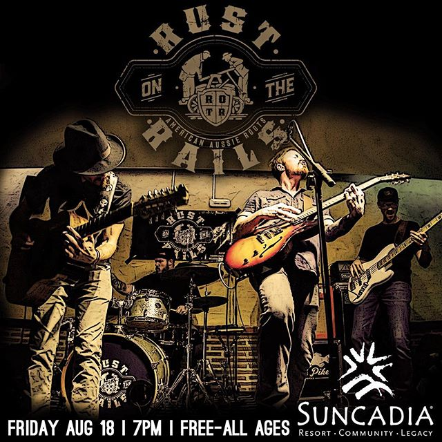 Join us for an outdoor, free, all ages show at beautiful Suncadia in Cle Elum, WA. Friday 18th, 7pm. Tell your friends, hope to see you there!