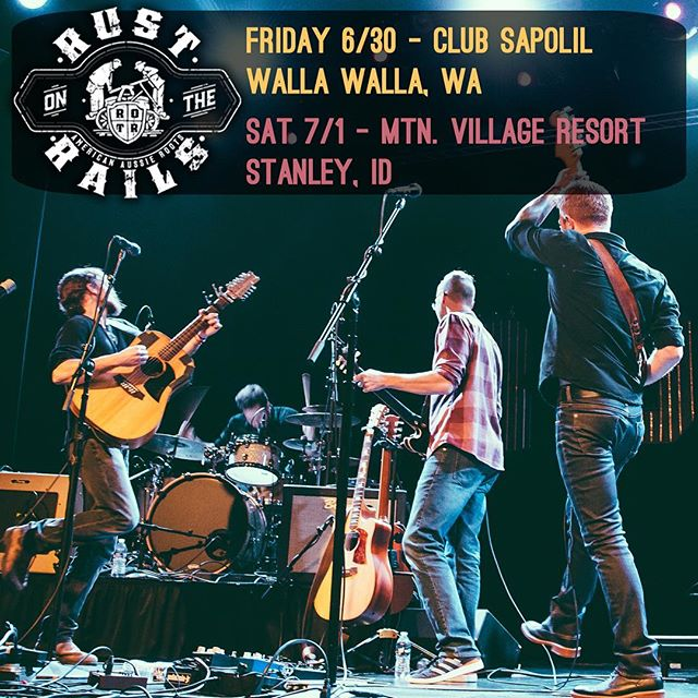 We are back on the road this weekend, Friday in Walla Walla at #sapolilcellars and Saturday in @stanley_id  at #mountainviewresort  #clubsapolil #wallawalla @nightlifewallawalla @visitwallawalla @wwub @downtownwallawalla @cityofww @wallawallaguitarcompany @stanleyidahome #americanaussieroots #didgeridoo #rustontherails