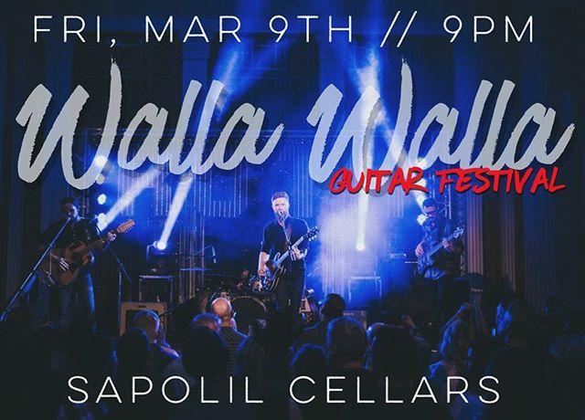 This Friday!  #wallawalla #wallawallawine #wallawallaguitarfestival #sapolilcellars #rustontherails #easternwa #easternwashington #musicfestival #northwest #festies