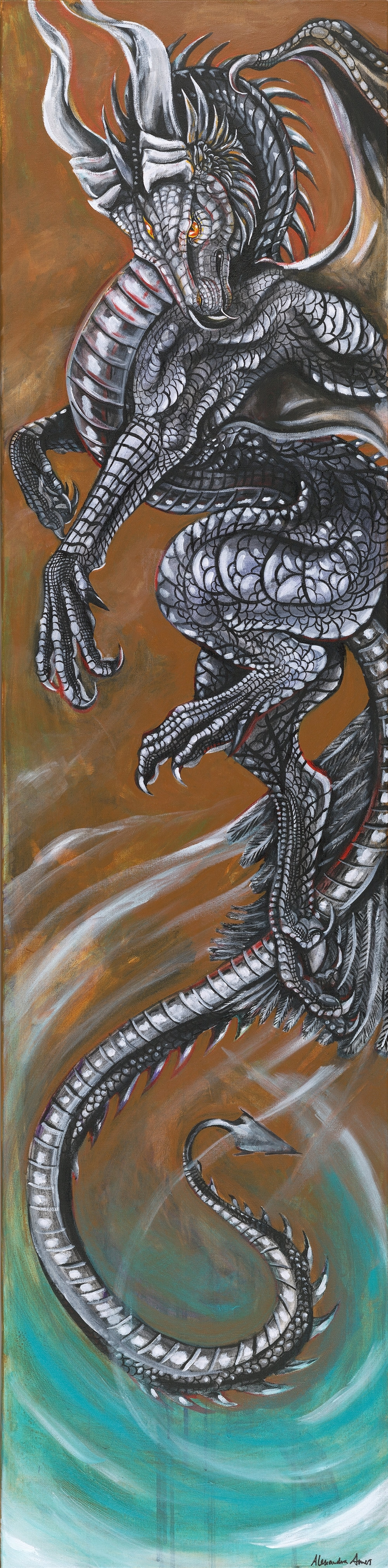 Dragon, acrylic on canvas