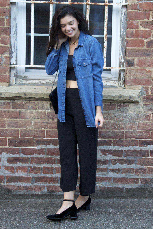Button Up   Cami   Pants   Shoes