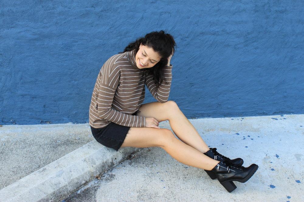 Top   Skirt   Boots