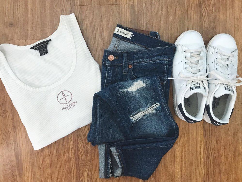 Tank   Jeans   Shoes