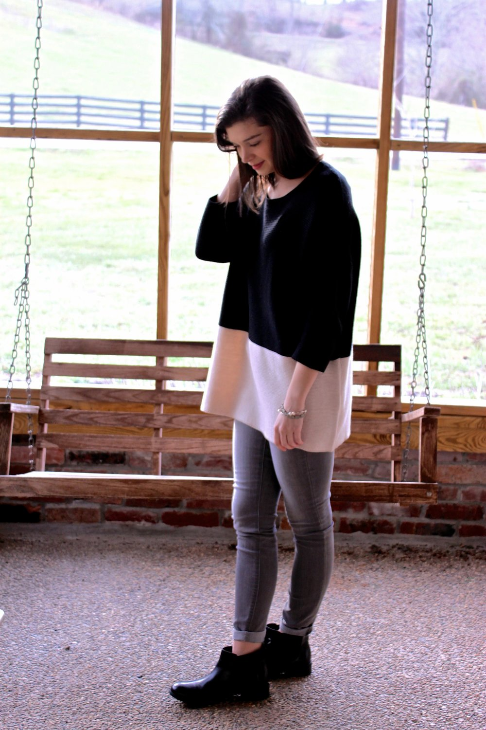 Sweater , ( Option 2 ), (Option 3)   Jeans      Boots