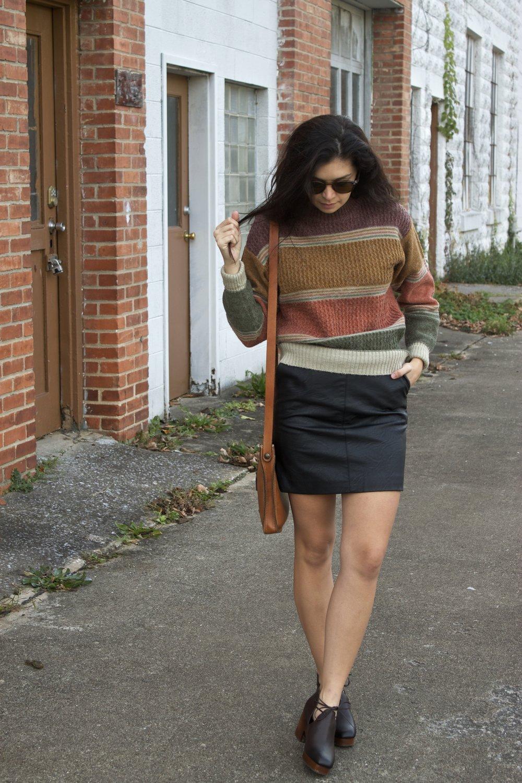 Sweater   Skirt   Purse   Shoes   Sunnies